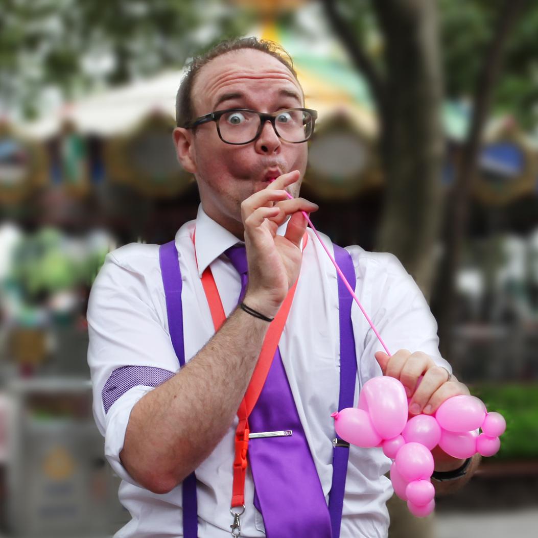 PaulMagie sculpture de ballon caniche rose
