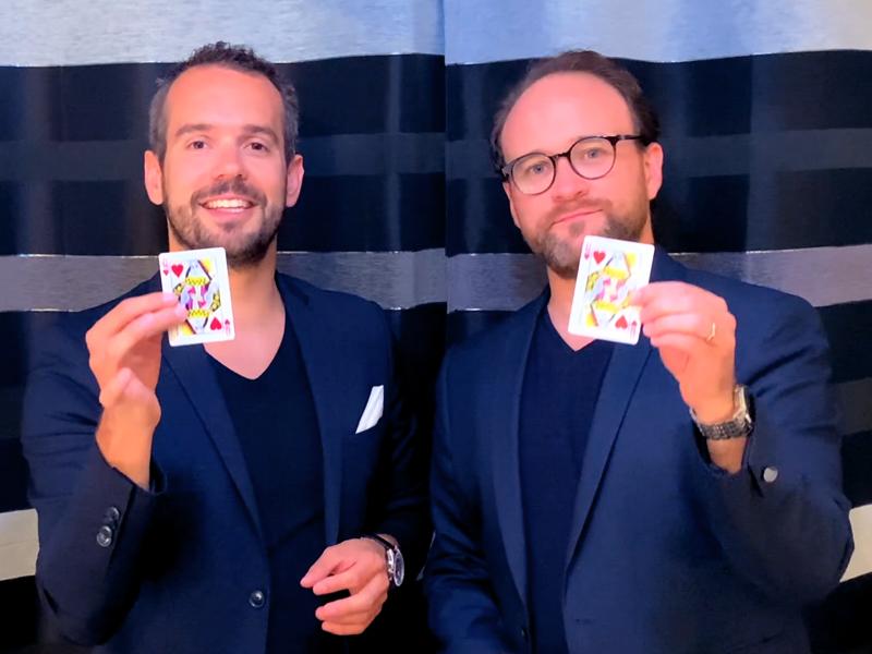 Paul et Adrien Magiciens Team Building