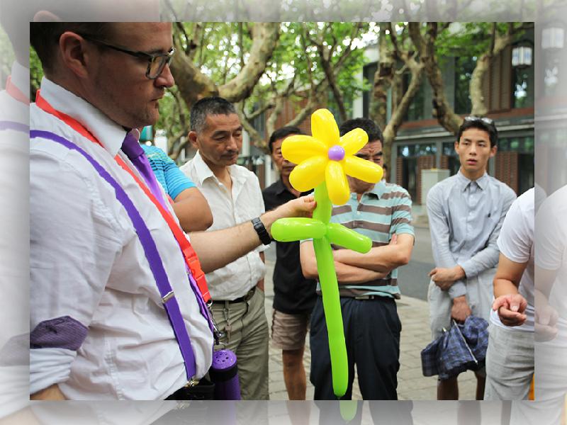 Paulmagie sculpture ballons fleur