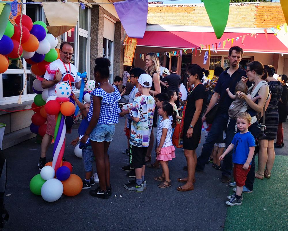 Paulmagie animation Sculpture Ballons école