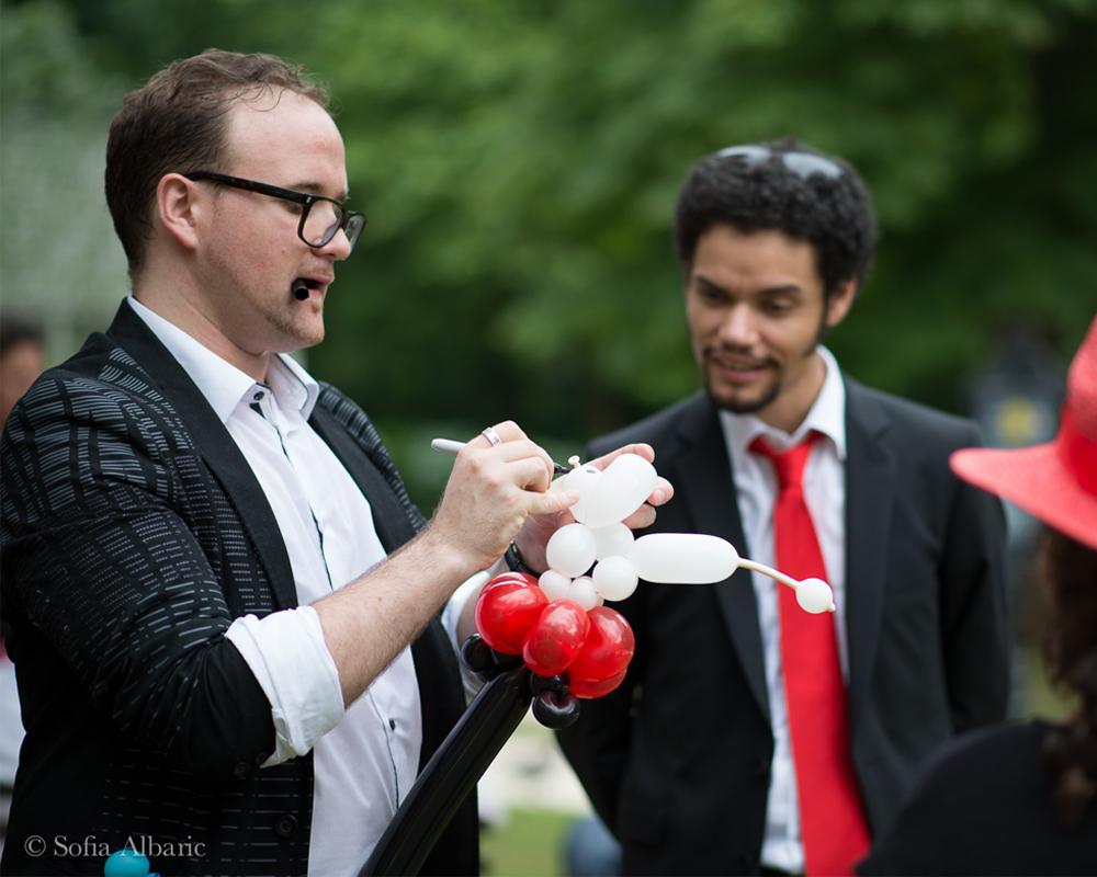 Paulmagie animation Sculpture Ballons mariage