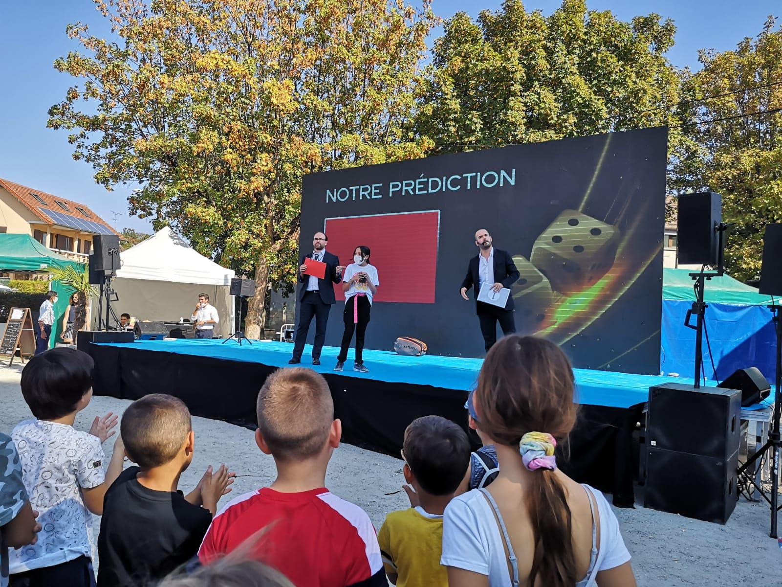 Show scène magie écran digital Paulmagie
