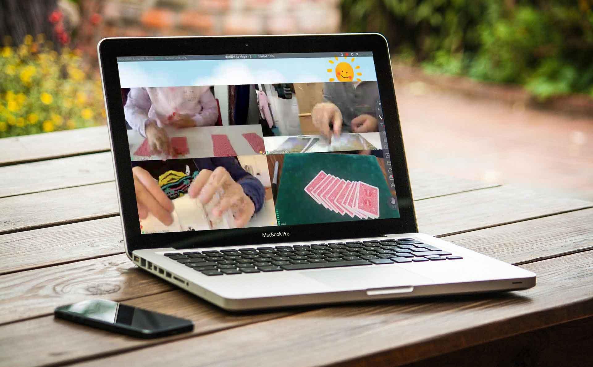 cours de magie en ligne paulmagie ordinateur zoom